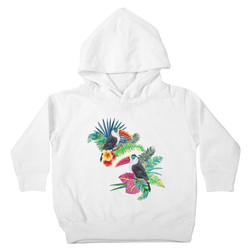 Toucan Birds Kids Toddler Pullover Hoody by StellaCaraman's