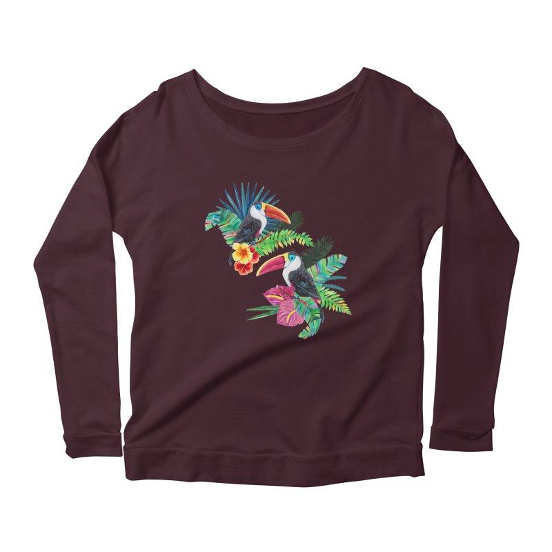 Toucan Birds Women's Scoop Neck Longsleeve T-Shirt by StellaCaraman's