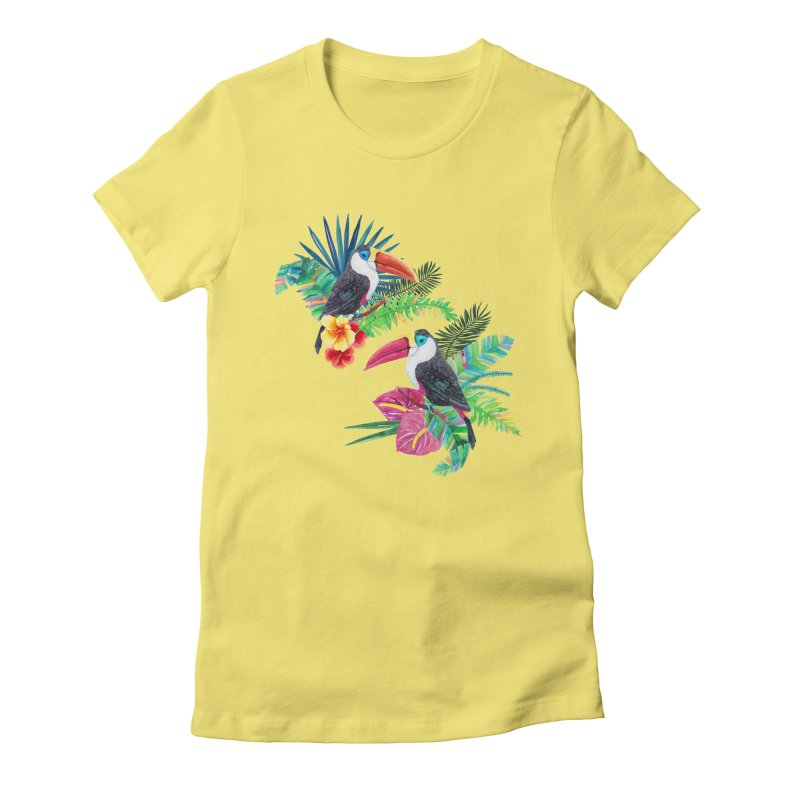 Toucan Birds Women's Fitted T-Shirt by StellaCaraman's