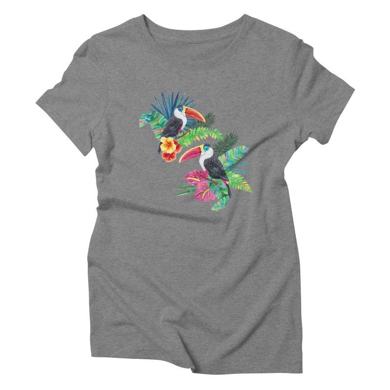 Toucan Birds Women's Triblend T-shirt by StellaCaraman's