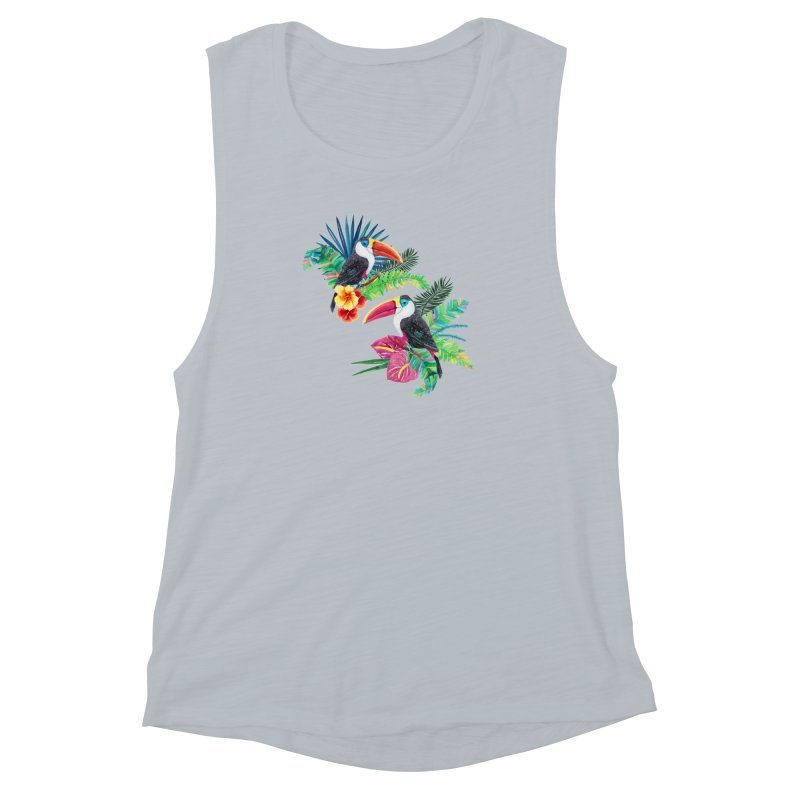 Toucan Birds Women's Muscle Tank by StellaCaraman's