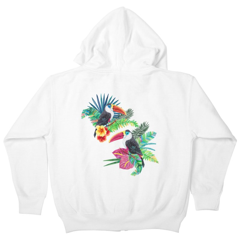 Toucan Birds Kids Zip-Up Hoody by StellaCaraman's