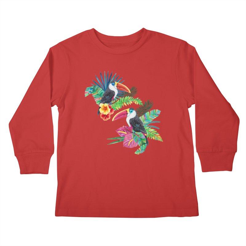 Toucan Birds Kids Longsleeve T-Shirt by StellaCaraman's