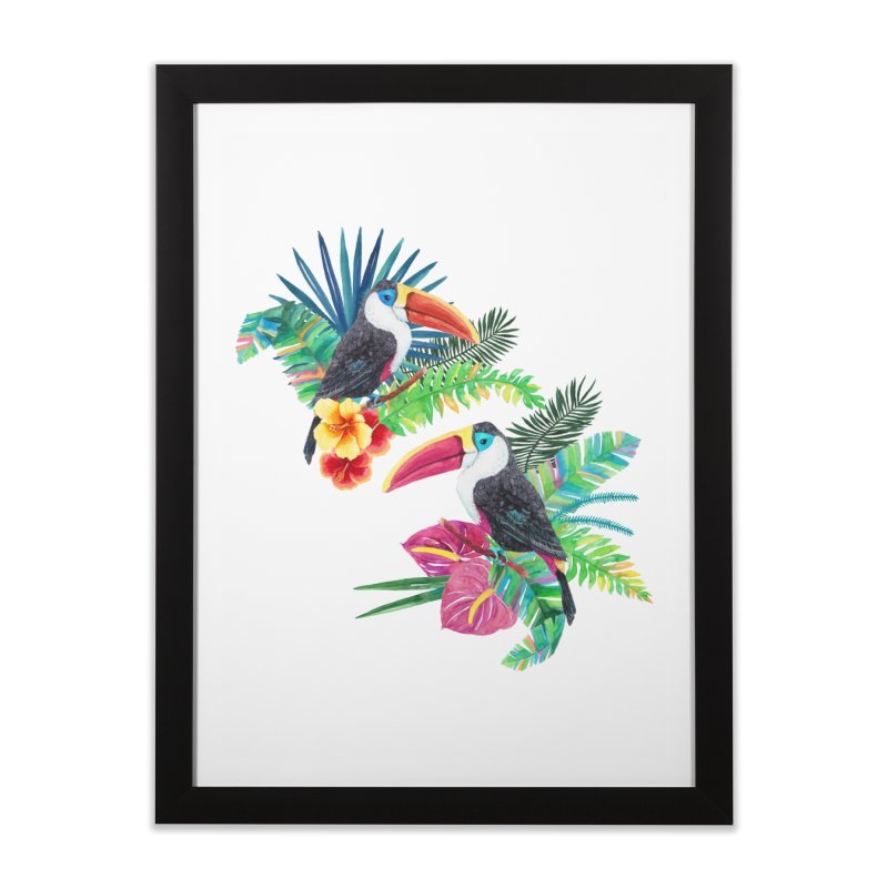 Toucan Birds Home Framed Fine Art Print by StellaCaraman's