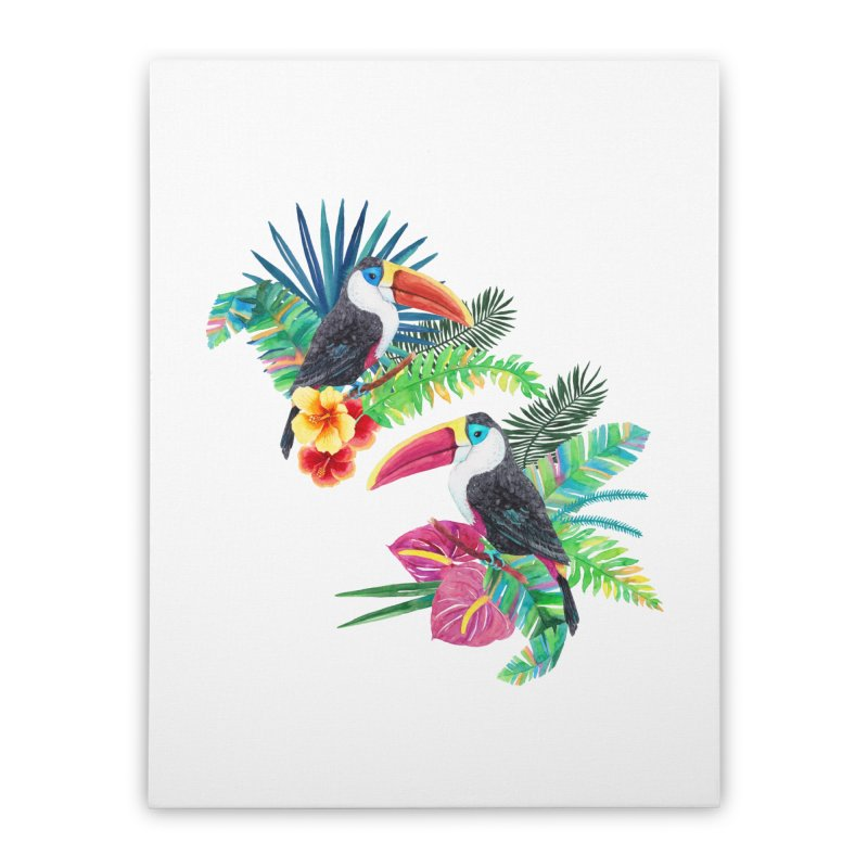 Toucan Birds Home Stretched Canvas by StellaCaraman's