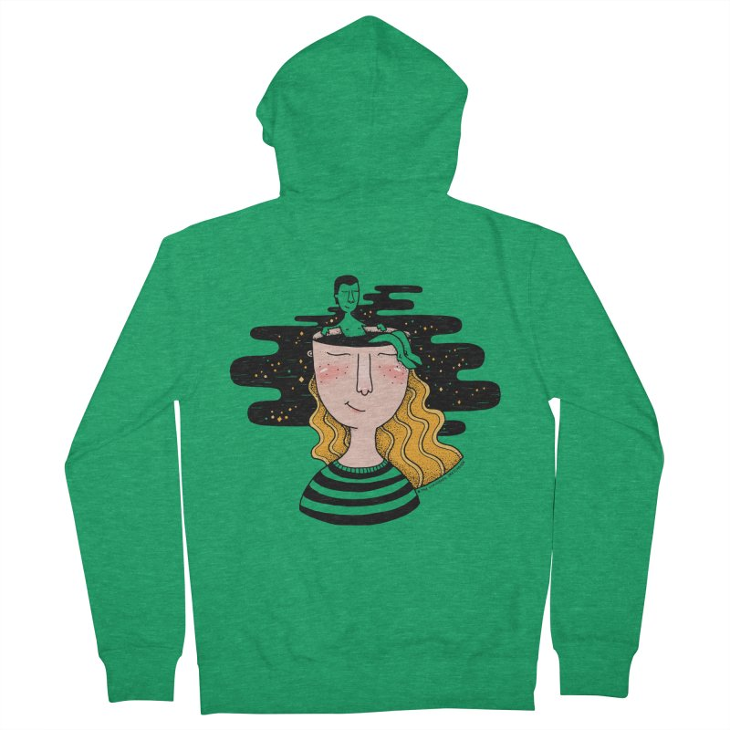 Always In My Mind Women's French Terry Zip-Up Hoody by StellaCaraman's