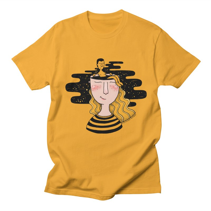 Always In My Mind Men's Regular T-Shirt by StellaCaraman's