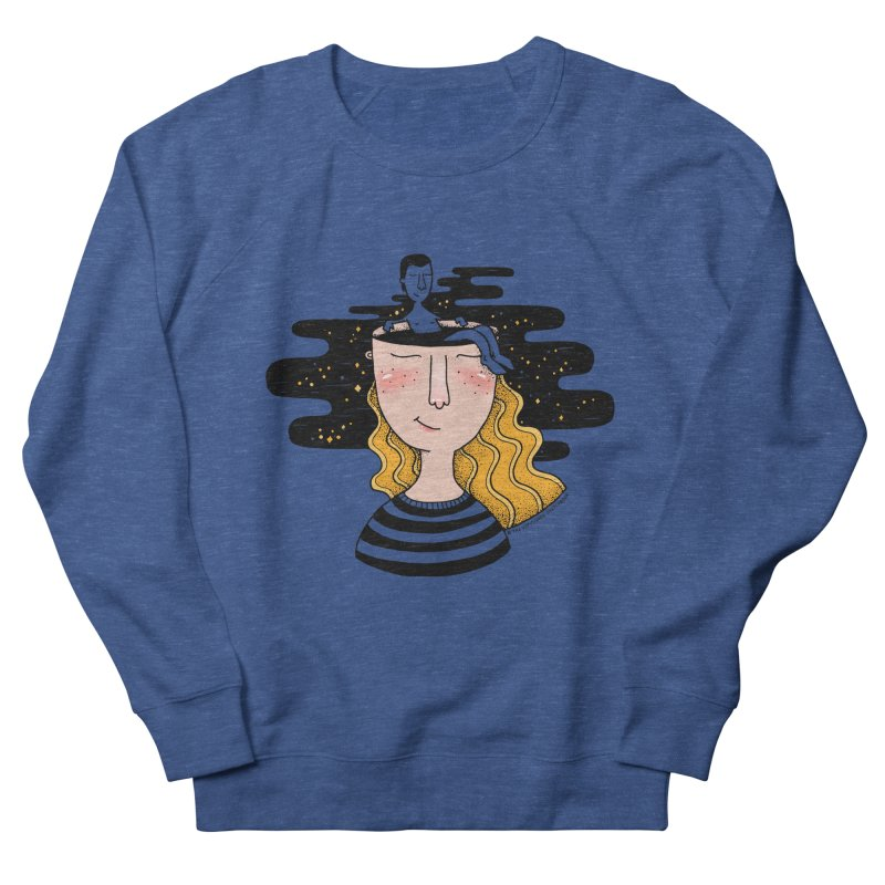 Always In My Mind Men's French Terry Sweatshirt by StellaCaraman's
