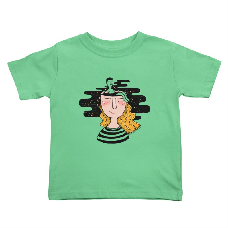 Always In My Mind Kids Toddler T-Shirt by StellaCaraman's