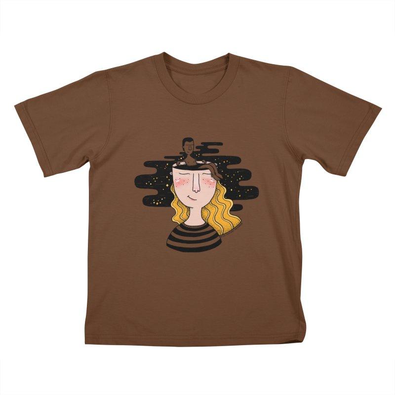Always In My Mind Kids T-Shirt by StellaCaraman's