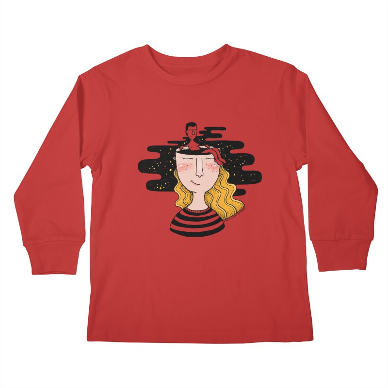 Always In My Mind Kids Longsleeve T-Shirt by StellaCaraman's