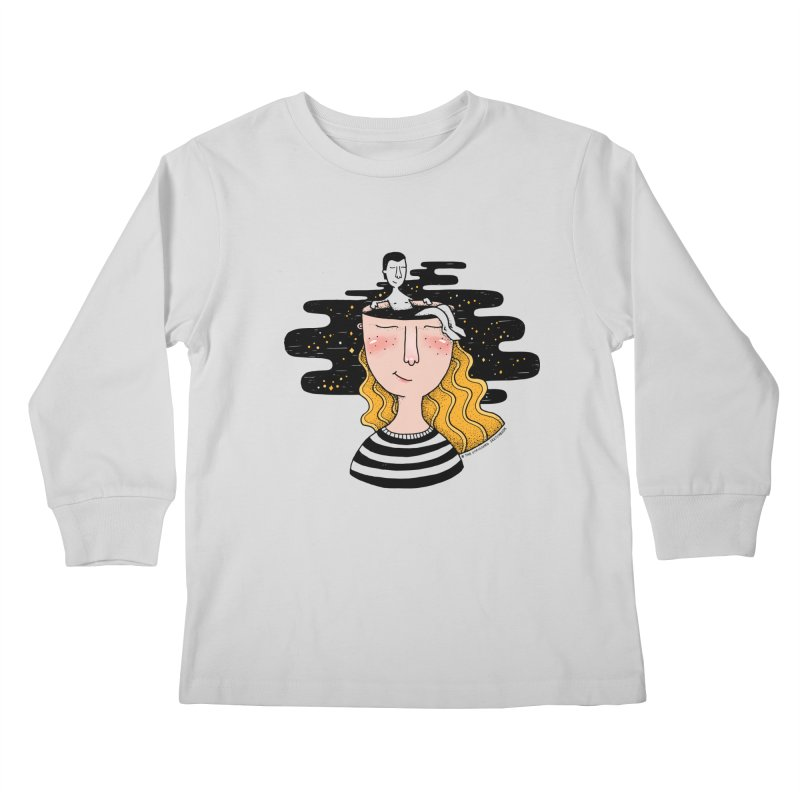 Always In My Mind Kids Longsleeve T-Shirt by StellaCaraman's