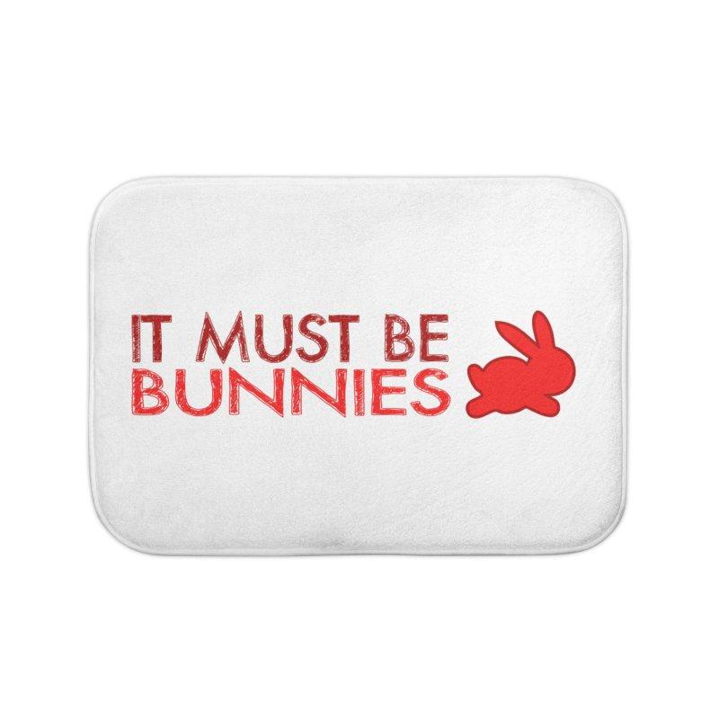 It must be bunnies Home Bath Mat by Stellarevolutiondesigns's Artist Shop