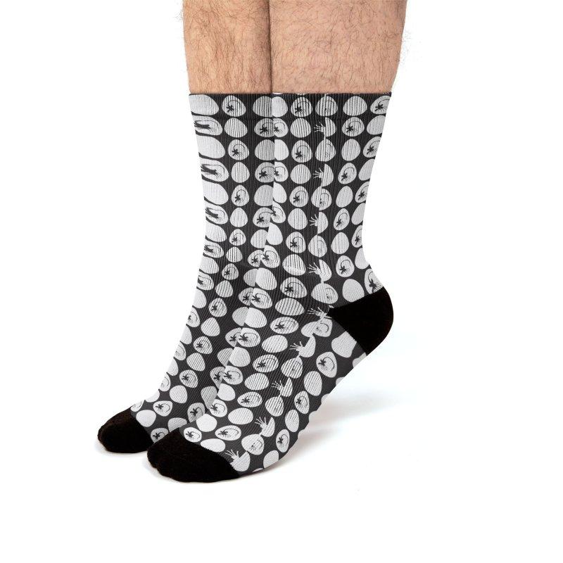 Eggs and face hugs Men's Socks by Stellarevolutiondesigns's Artist Shop