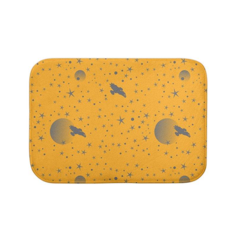 Yellow firefly Home Bath Mat by Stellarevolutiondesigns's Artist Shop