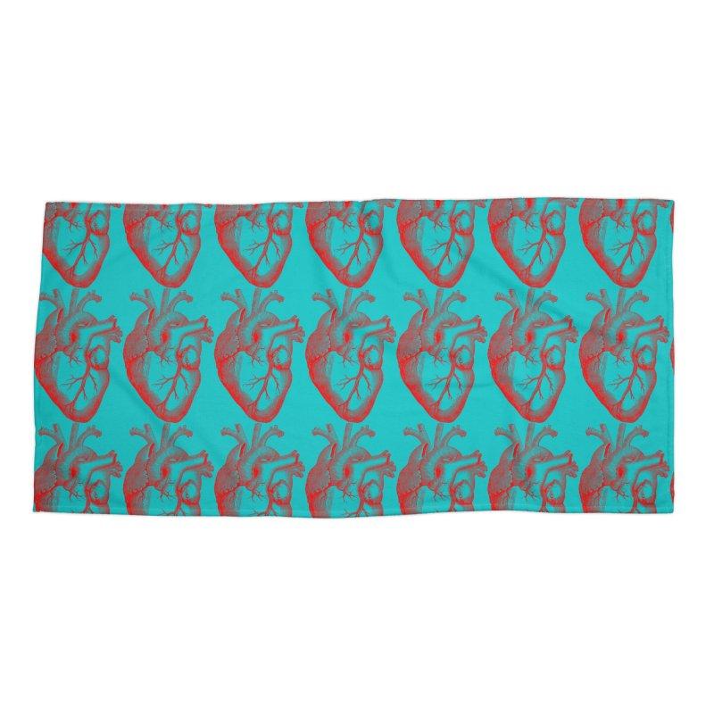 Atomic Hearts Accessories Beach Towel by Stellarevolutiondesigns's Artist Shop