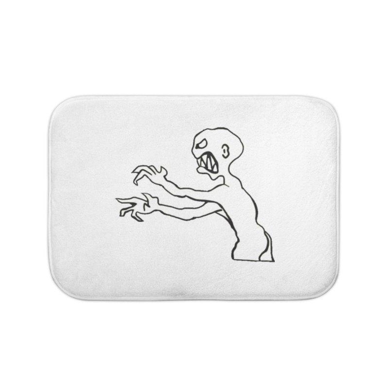 Grr monster Home Bath Mat by Stellarevolutiondesigns's Artist Shop