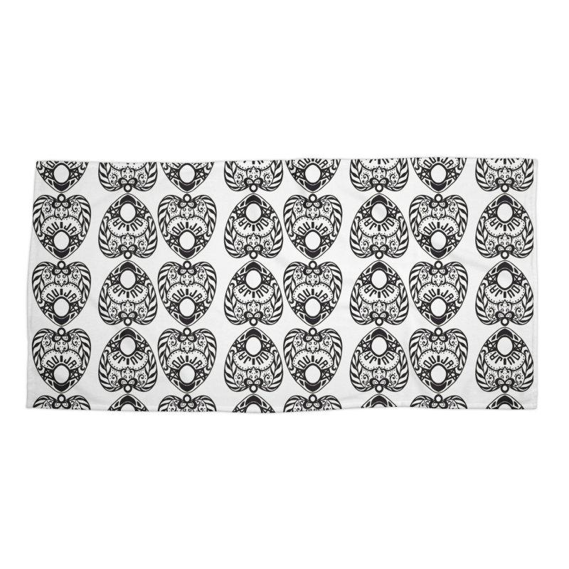 Ouija games white Accessories Beach Towel by Stellarevolutiondesigns's Artist Shop