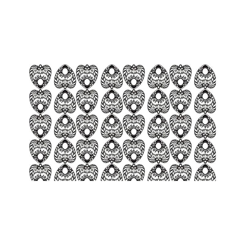 Ouija games white Home Bath Mat by Stellarevolutiondesigns's Artist Shop
