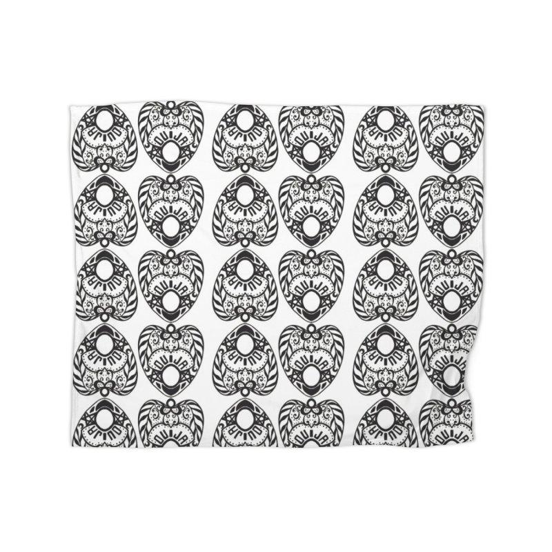 Ouija games white Home Blanket by Stellarevolutiondesigns's Artist Shop