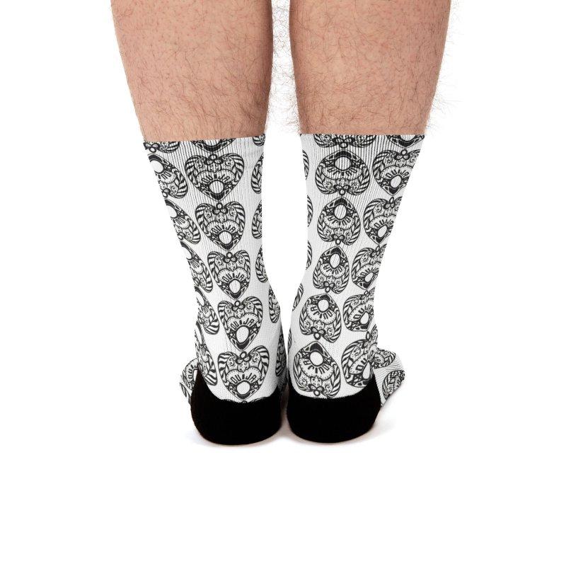 Ouija games white Men's Socks by Stellarevolutiondesigns's Artist Shop