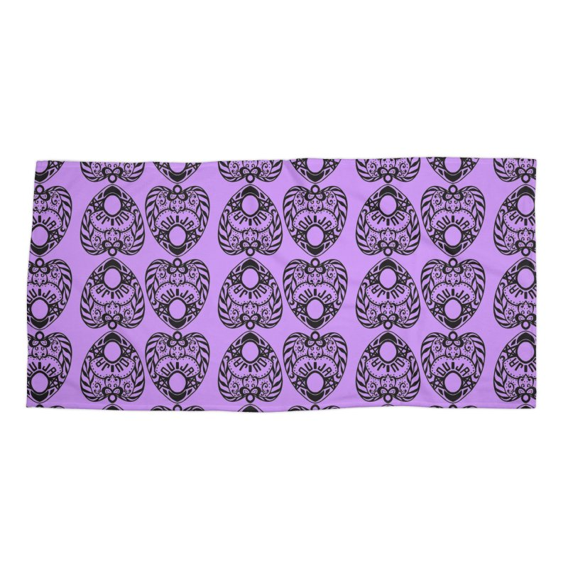Purple ouija Accessories Beach Towel by Stellarevolutiondesigns's Artist Shop