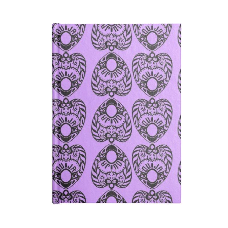 Purple ouija Accessories Notebook by Stellarevolutiondesigns's Artist Shop