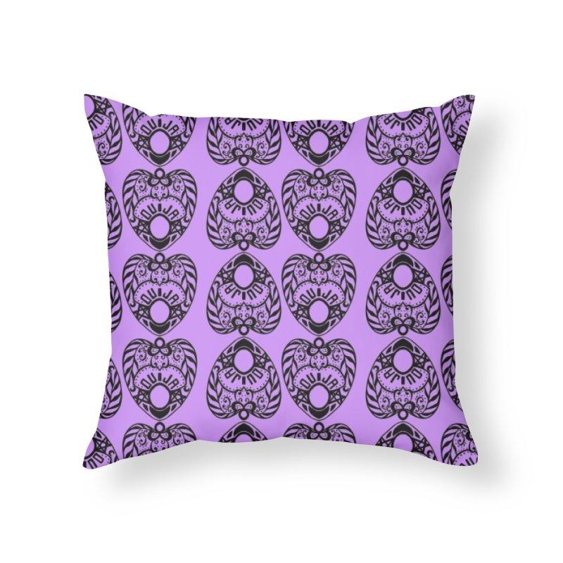 Purple ouija Home Throw Pillow by Stellarevolutiondesigns's Artist Shop