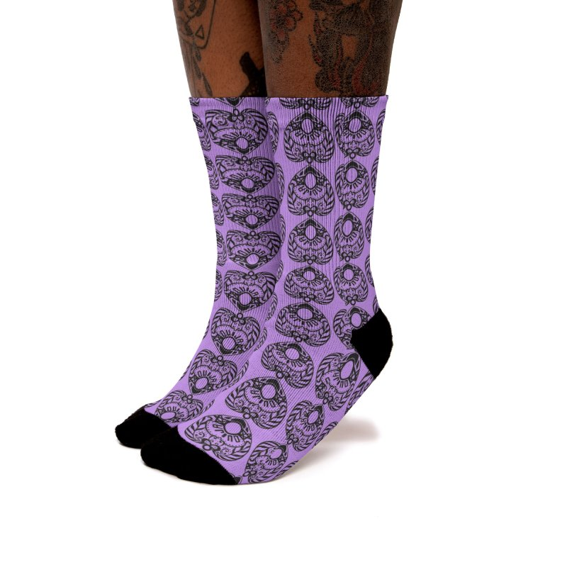 Purple ouija Women's Socks by Stellarevolutiondesigns's Artist Shop