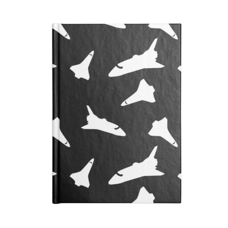 Space shuttle polka dot Accessories Notebook by Stellarevolutiondesigns's Artist Shop