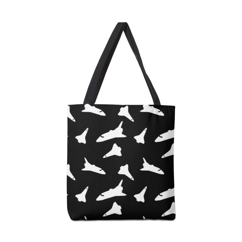 Space shuttle polka dot Accessories Bag by Stellarevolutiondesigns's Artist Shop