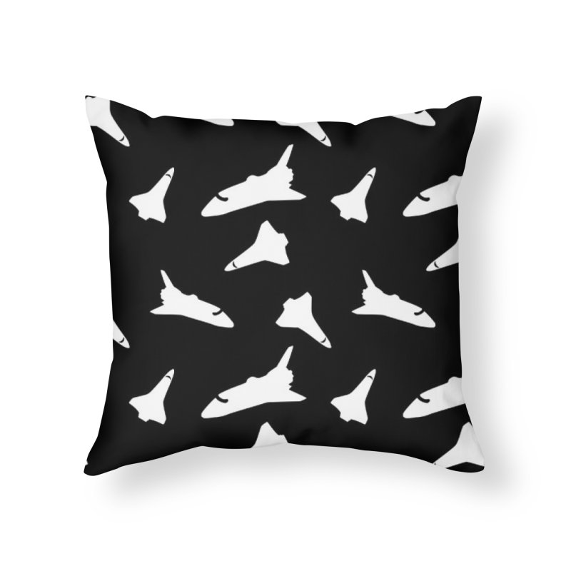 Space shuttle polka dot Home Throw Pillow by Stellarevolutiondesigns's Artist Shop