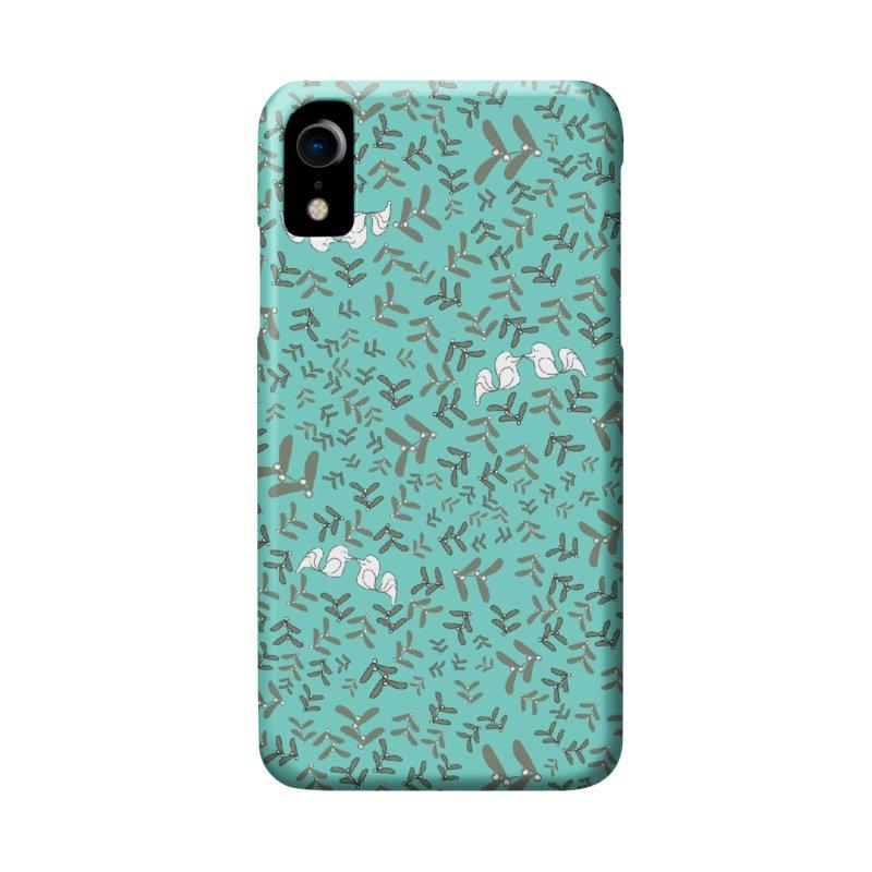 Lovebirds mistletoe Accessories Phone Case by Stellarevolutiondesigns's Artist Shop