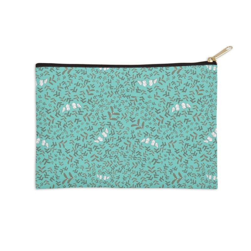Lovebirds mistletoe Accessories Zip Pouch by Stellarevolutiondesigns's Artist Shop