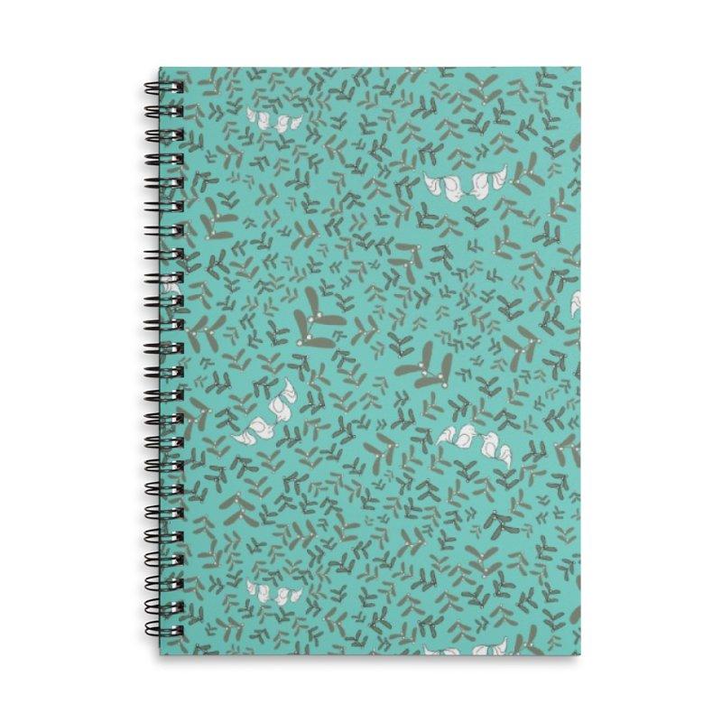 Lovebirds mistletoe Accessories Notebook by Stellarevolutiondesigns's Artist Shop