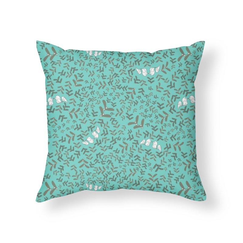 Lovebirds mistletoe Home Throw Pillow by Stellarevolutiondesigns's Artist Shop