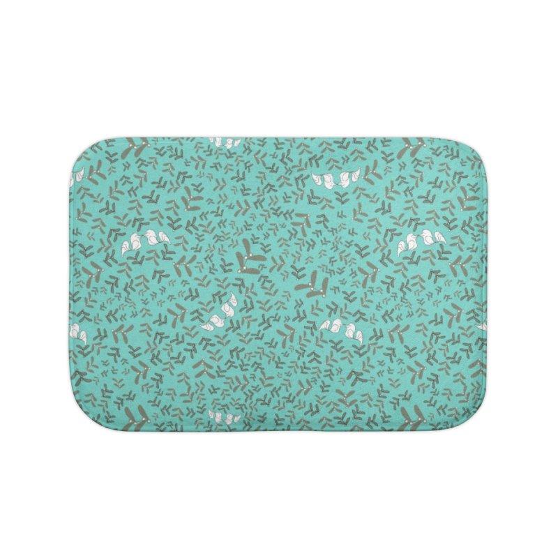 Lovebirds mistletoe Home Bath Mat by Stellarevolutiondesigns's Artist Shop
