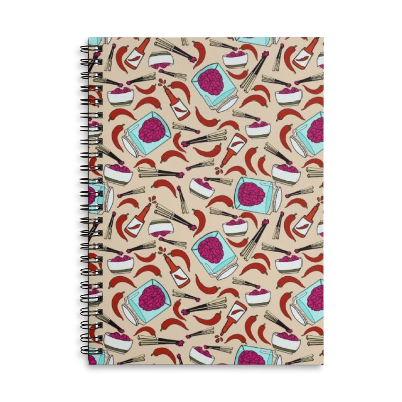 Zombie brain toss and hot sauce Accessories Notebook by Stellarevolutiondesigns's Artist Shop