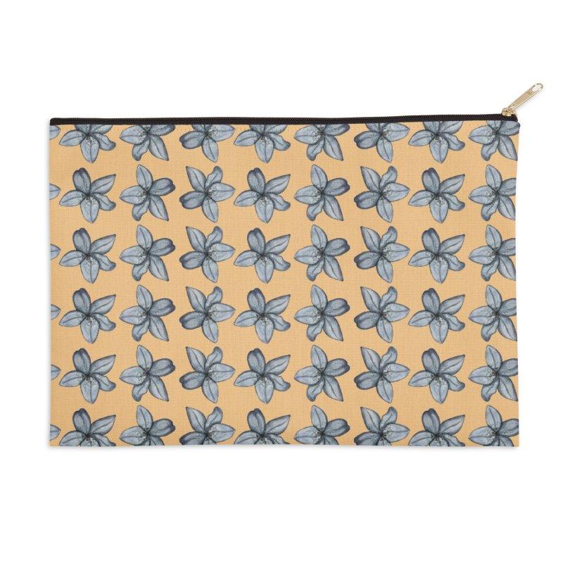 Reverse lilies Accessories Zip Pouch by Stellarevolutiondesigns's Artist Shop