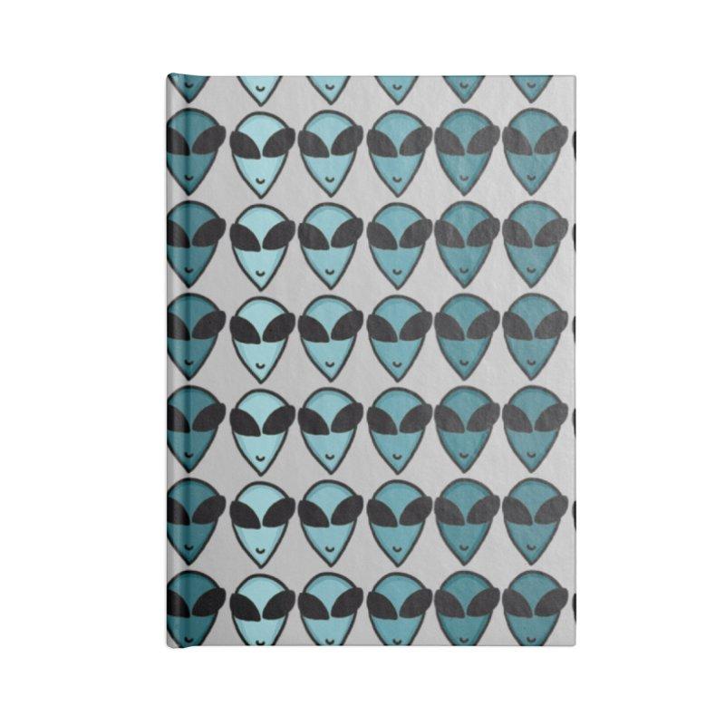 Little green men Accessories Notebook by Stellarevolutiondesigns's Artist Shop