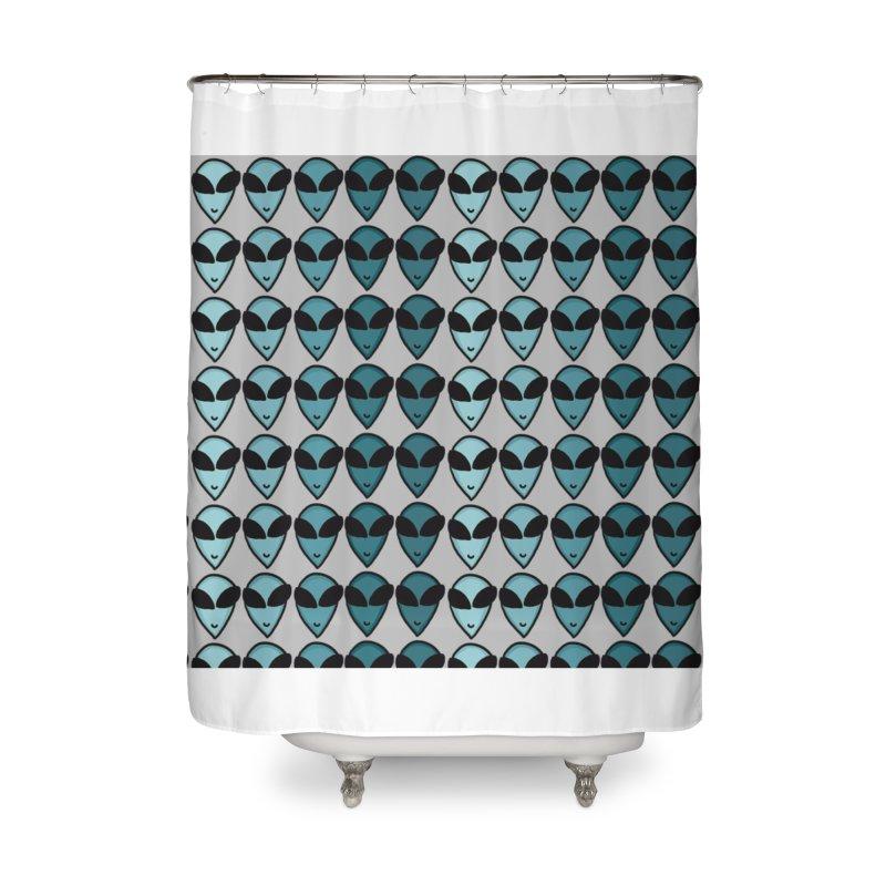 Little green men Home Shower Curtain by Stellarevolutiondesigns's Artist Shop