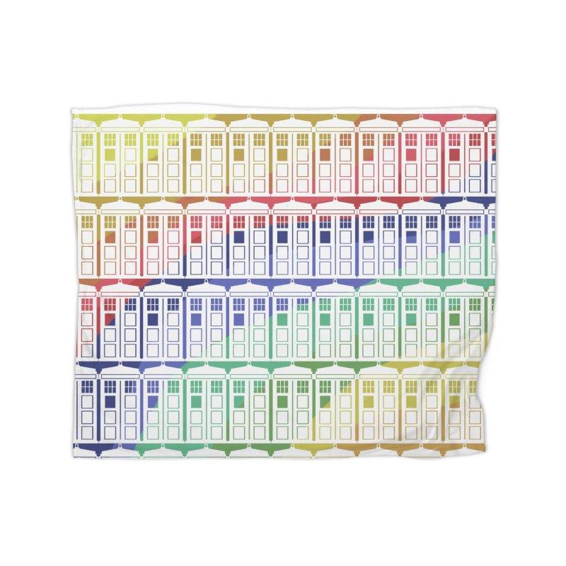 Time box rainbow Home Blanket by Stellarevolutiondesigns's Artist Shop