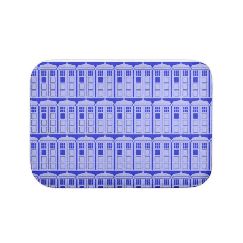 blue time box Home Bath Mat by Stellarevolutiondesigns's Artist Shop