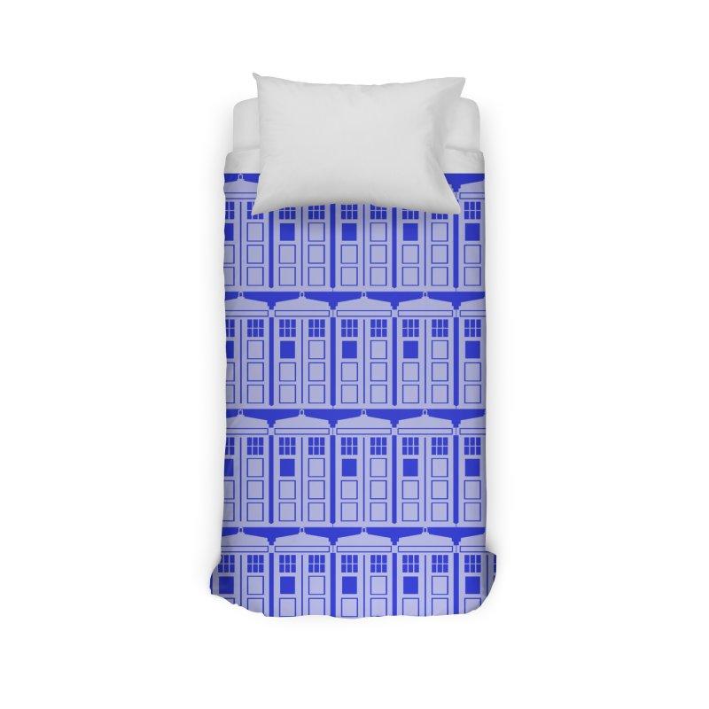 blue time box Home Duvet by Stellarevolutiondesigns's Artist Shop