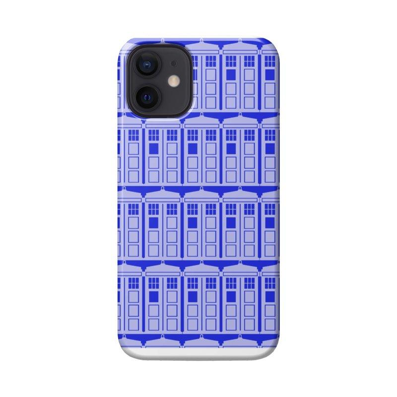 blue time box Accessories Phone Case by Stellarevolutiondesigns's Artist Shop