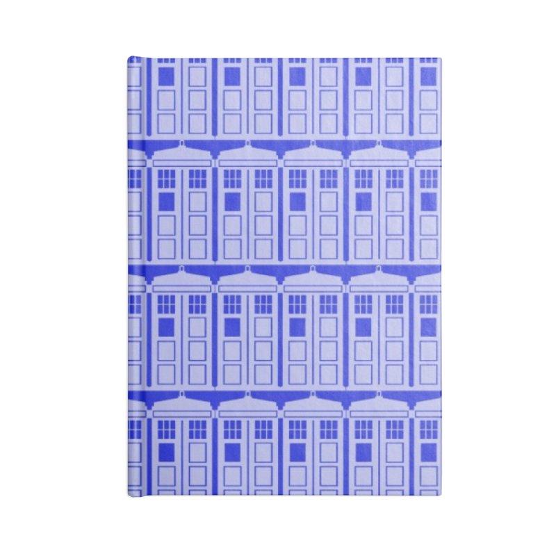 blue time box Accessories Notebook by Stellarevolutiondesigns's Artist Shop