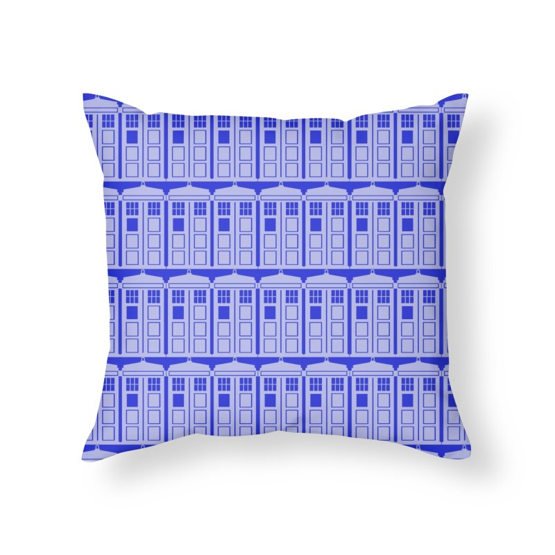 blue time box Home Throw Pillow by Stellarevolutiondesigns's Artist Shop