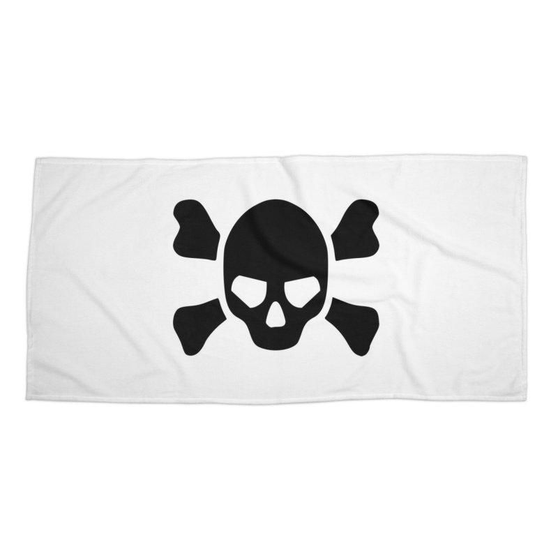 skull x Accessories Beach Towel by Stellarevolutiondesigns's Artist Shop