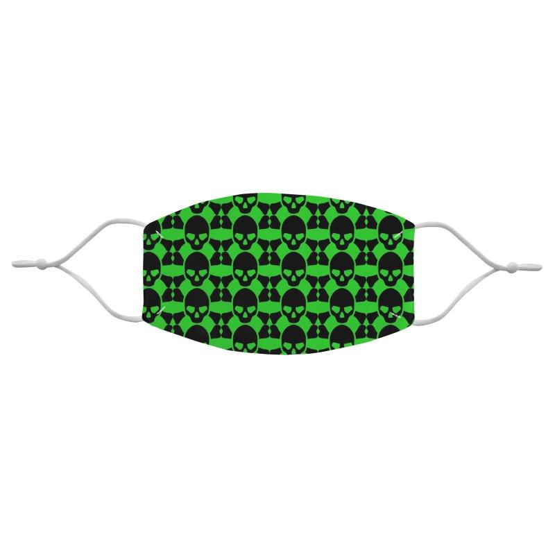 skull x pattern green Accessories Face Mask by Stellarevolutiondesigns's Artist Shop