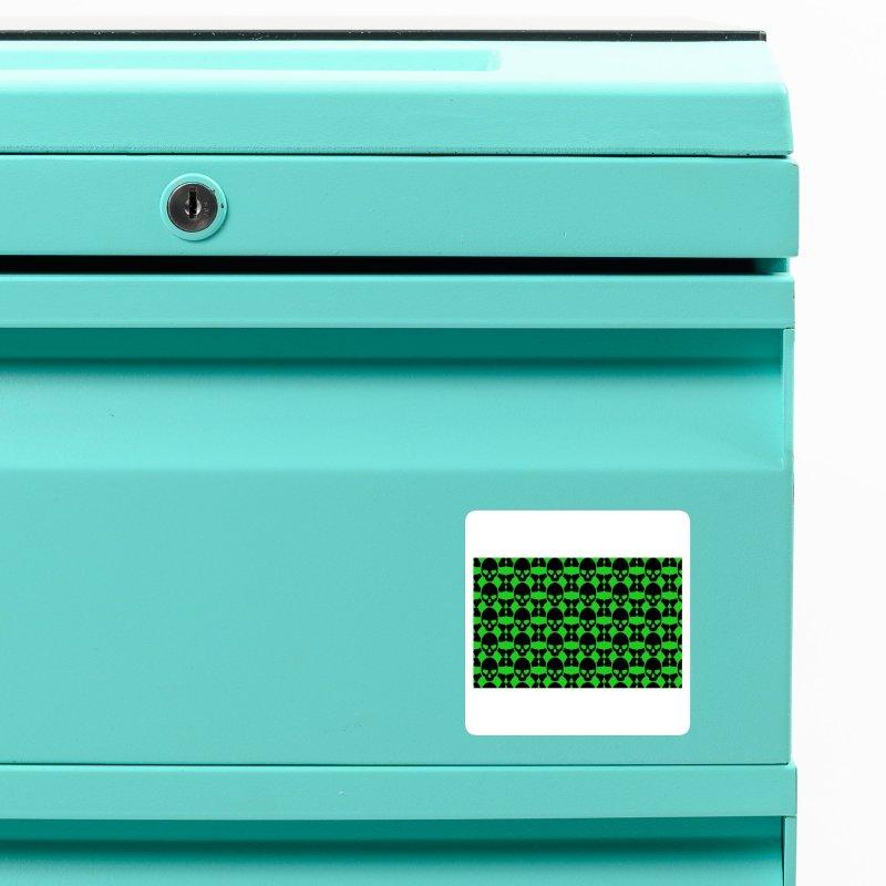 skull x pattern green Accessories Magnet by Stellarevolutiondesigns's Artist Shop